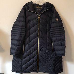Michael Kors Plus Size packable down puffer coat